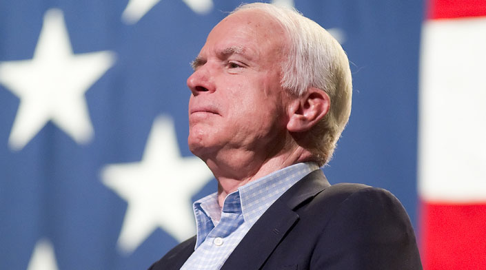 John McCain steps down from role as chairman of the International Republican Institute after 25 years